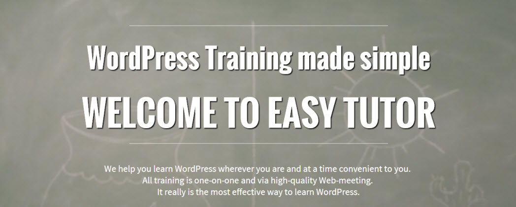 Personal WordPress Website training anywhere in Australia.