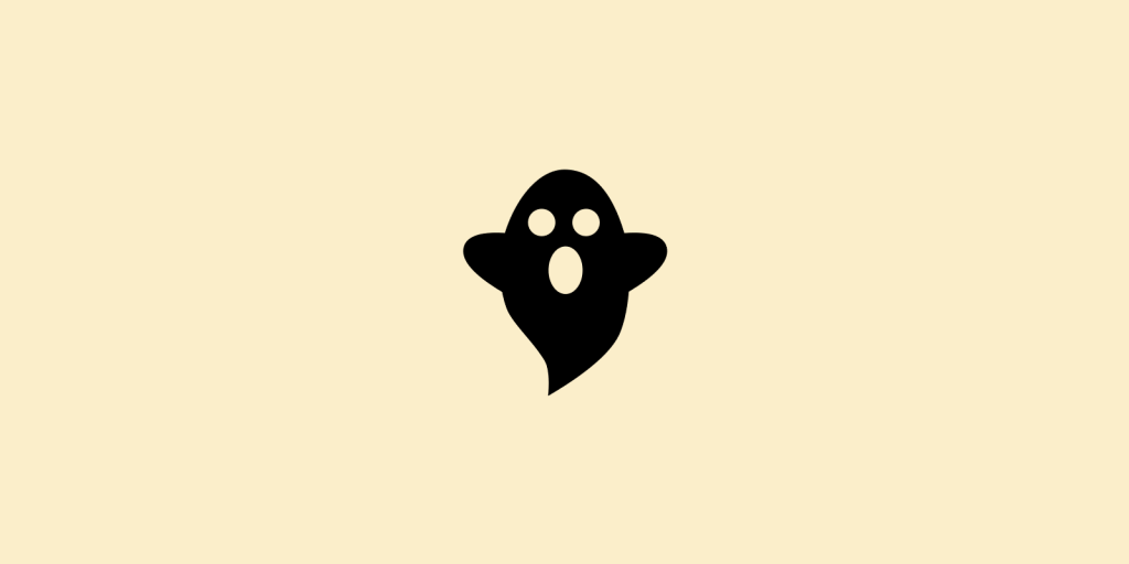 Ghost on yellow background
