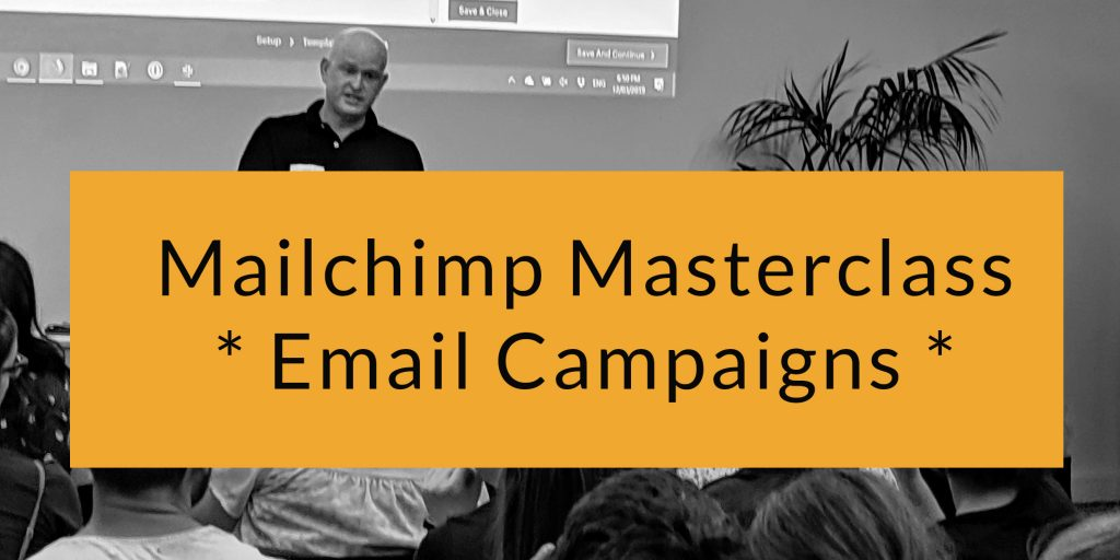 Mailchimp email marketing training - online class